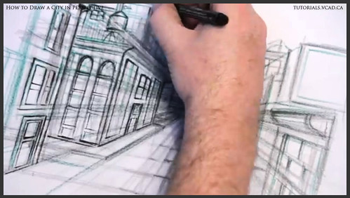 learn how to draw city buildings in perspective 024