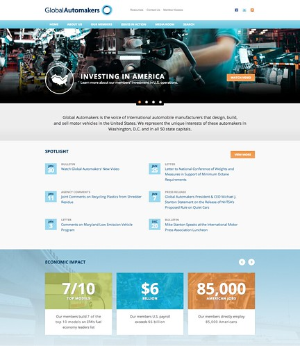 Global Automakers' New Homepage