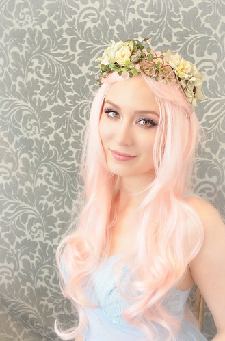 Floral crown, mermaid hair wreath, flower head piece, hair accessory - ondine5