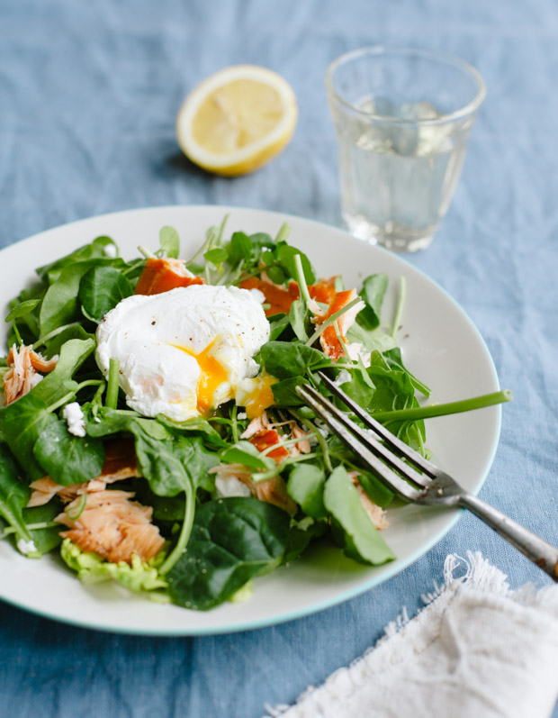 Salmon and Poached Egg Salad