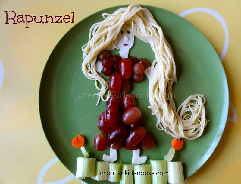 "Rapunzel from #Disney's ""Tangled"" - from creativekidsnacks.com"