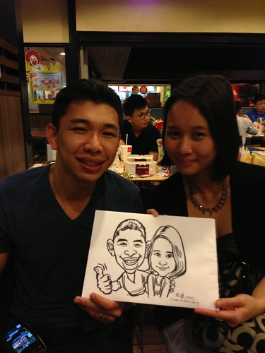 caricature live sketching for birthday party - 6