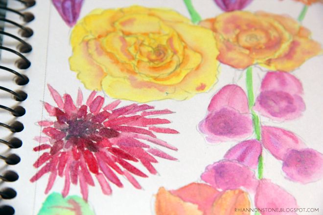 Watercolour Bliss - An experiment with flowers