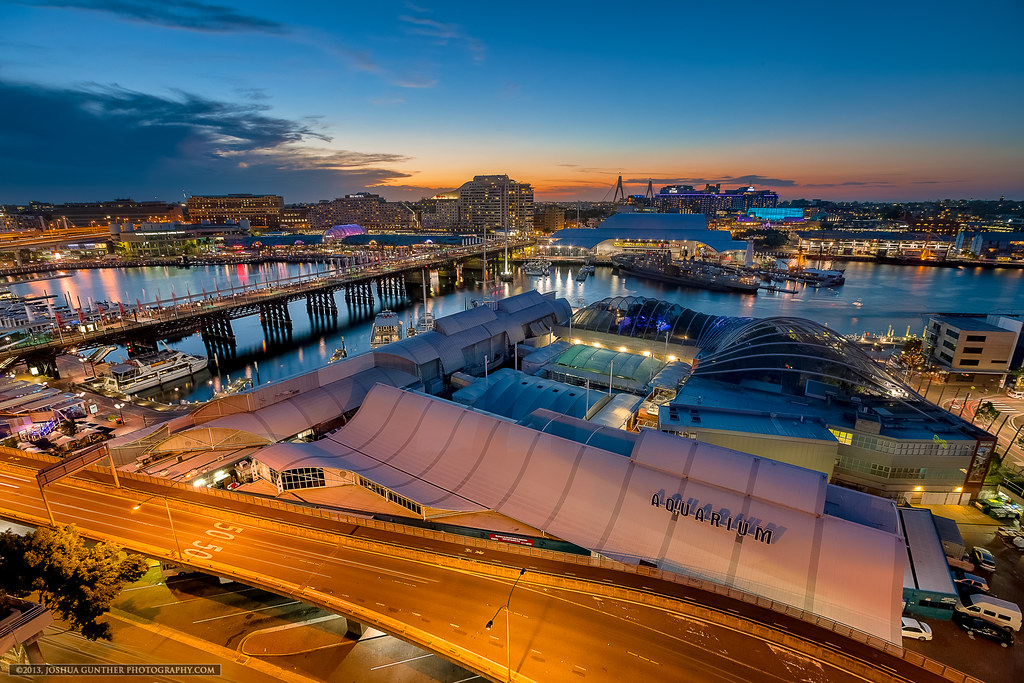 Darling Harbor Sunset - Sydney Australia