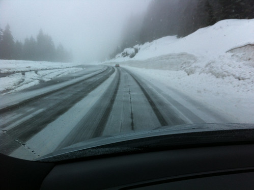 Driving up to Cypress Mountain in the snow (March 20, 2013)