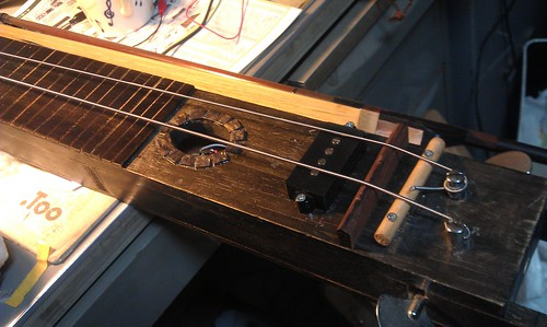Electric 2 string wood bass! 001 by Kanda Mori
