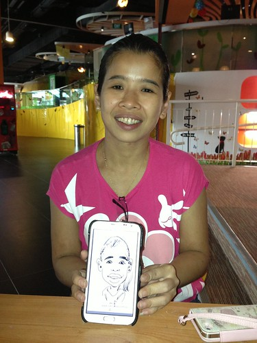 digital caricatures on Samsung Galaxy Note 2 for Stabilo - 4