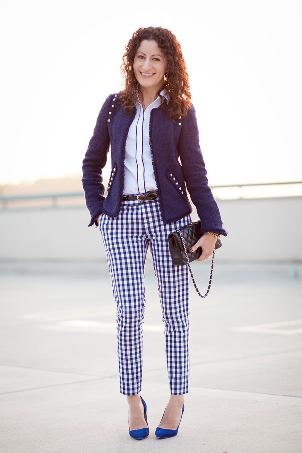 Banana Republic Mad Men Collection: Gingham Crop Pants