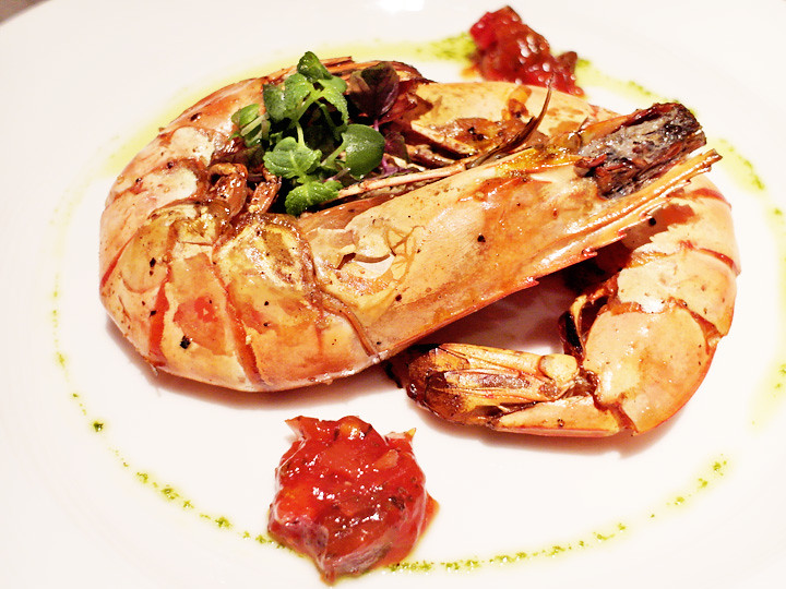 ocean tiger prawn breez bistro bar at grand mercure roxy hotel