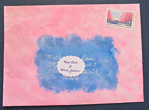 Water Color Envelope-Outgoing