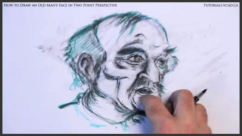 learn how to draw an old man's face in two point perspective 037