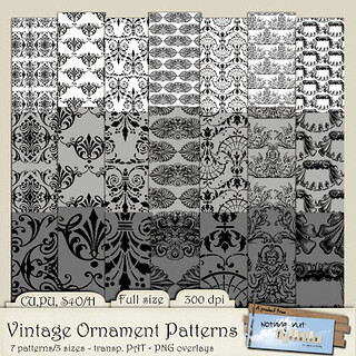 Preview - Vintage Ornament Patterns 6x6