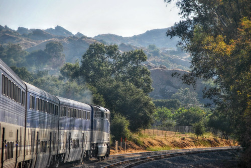 Amtrak Pacific Surfliner in Simi Valley, California