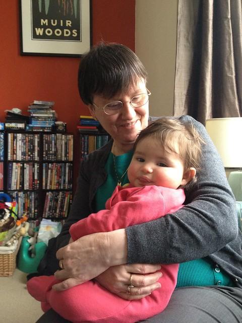 With Auntie Margaret