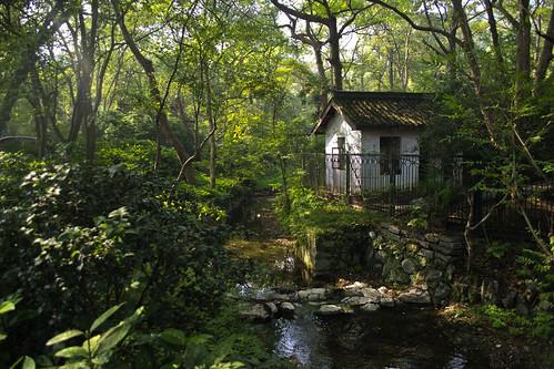 [フリー画像素材] 森林, 河川・湖, 家屋・集合住宅, 風景 - 中華人民共和国 ID:201304032000