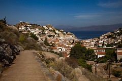 On the Greek island Hydra there are no cars, only footpaths such as this one. #travel #greece #island