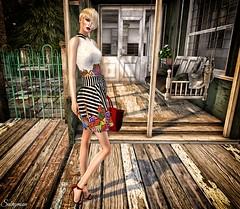Sabrymoon wearing Amarelo Manga Isadora Dress Summer Earrings Summer Satchel Handbag and Summer Ankle Strap High Heel Sandals