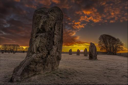 sunrise dawn wiltshire avebury neolithic stonecircle