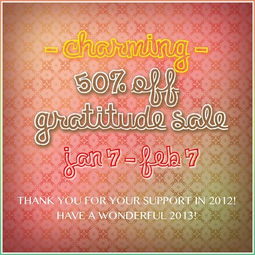50% Off Gratitude Sale @ Charming