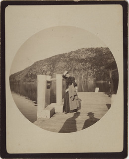Lady on a Boat Dock with Shadows - No. 2 Kodak print