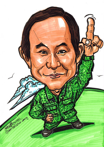caricature for SAF - military uniform
