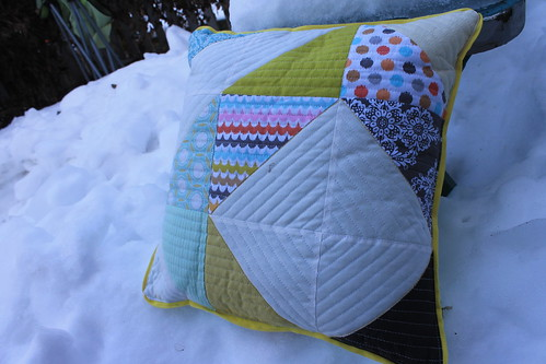 HST Quilted Diamond Pillow