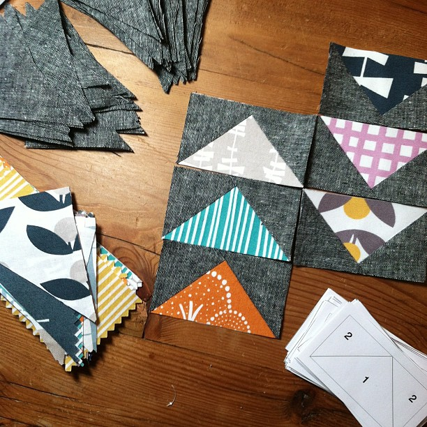 Cutting into my Glimma today!  Fabrics by Lotta Jansdotter for Windham Fabrics @windhamgirl