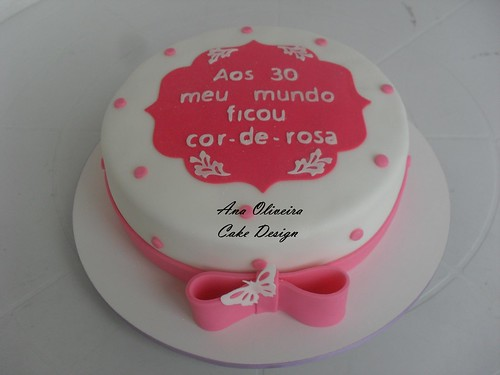 Bolo Rosa by Ana Oliveira Cake Design