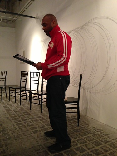 Zane Stackhouse reading at Chris Stackhouse book launch
