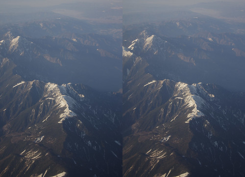 Mount Houou, stereo parallel view