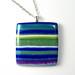 Blue stripe pendant by The Blue Bottle Tree