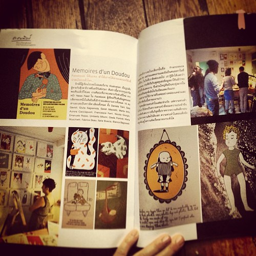 Published in Bangkok with our exhibition Memoires d'un Doudou by la casa a pois
