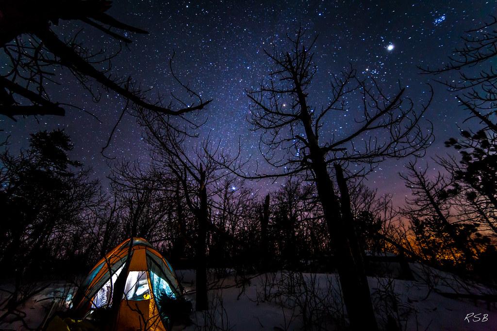 Campsite under the stars