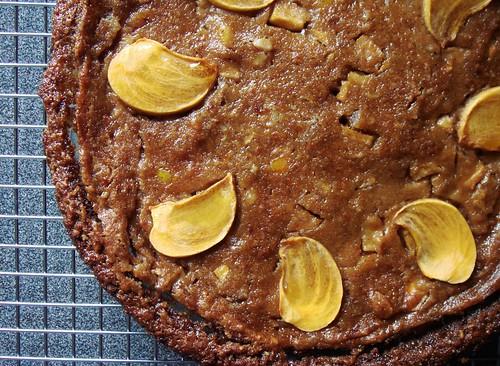 Persimmon Pie: Baked