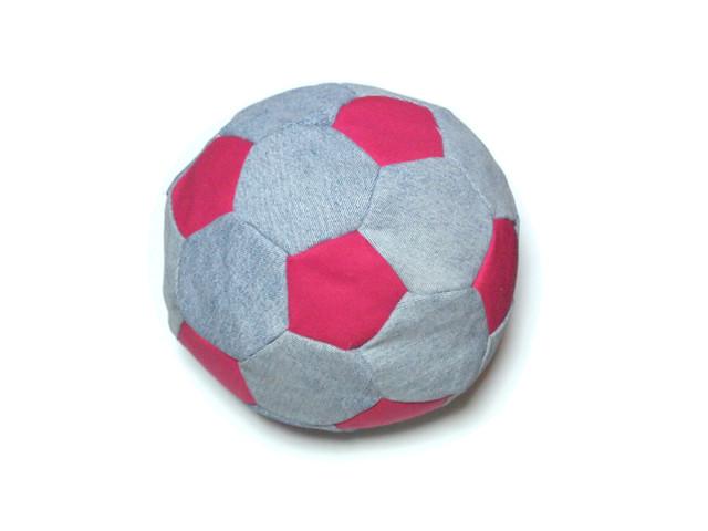 upcycled football cushion