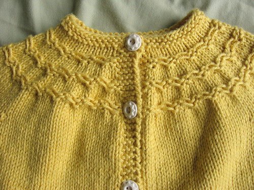 Yellow baby sweater 2
