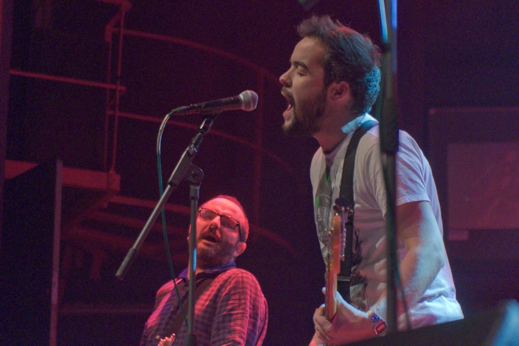 Señores durante el concierto con Toundra. En el Kafe Antzokia de Bilbao, el 12 de Enero de 2013.