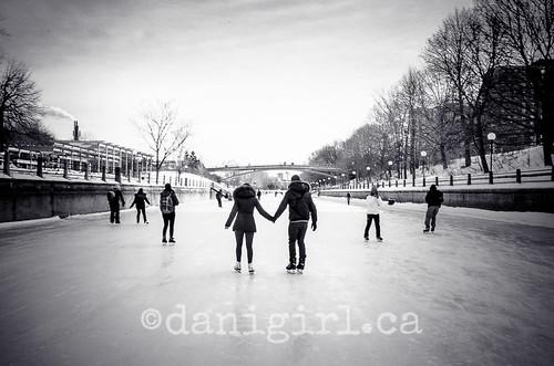 里多运河上的溜冰者