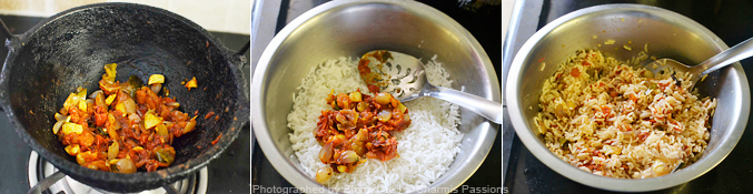 How to make tomato rice - Step3