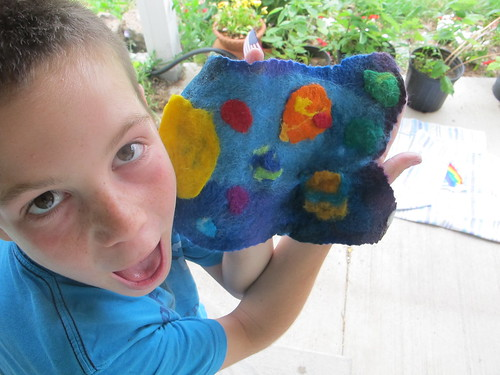 Summer Wet Felting: Solar System#5