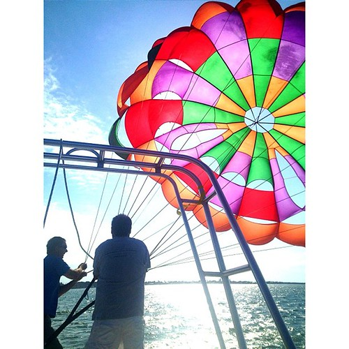 This totally happened! #parasailing #keylargo #ocean #zeb