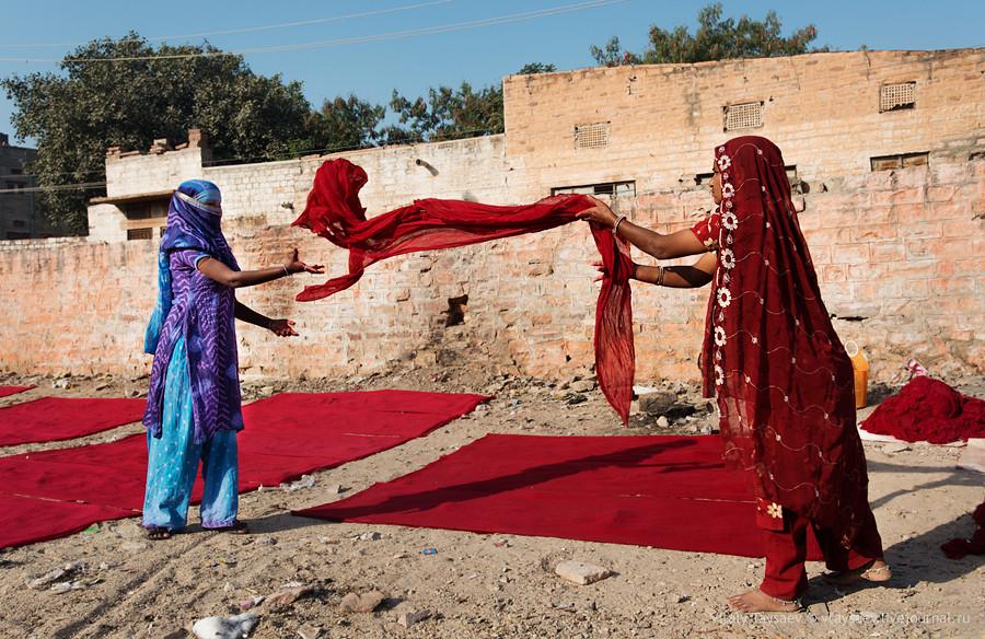 Drying of fabrics, Jodhpur