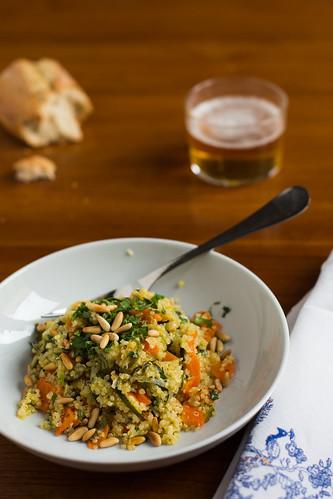 Quinoa con Calabacines y Cebolla