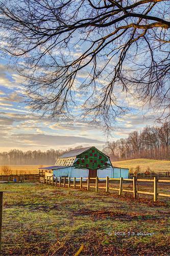 morning barn painted harmony kindness hdrprocessed sunrisesunset2013 annapolis2013