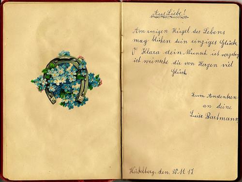 Klaras Poesiealbum 1916 Aus Liebe Zum Andenken