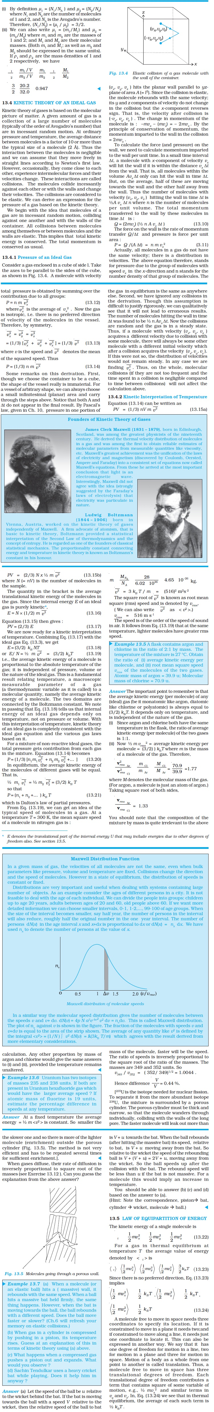 NCERT Class XI Physics Chapter 13 – Kinetic Theory