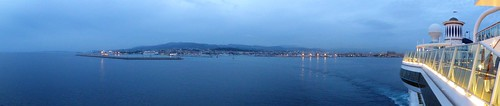 Palma de Mallorca at Dusk from a Cruise Ship