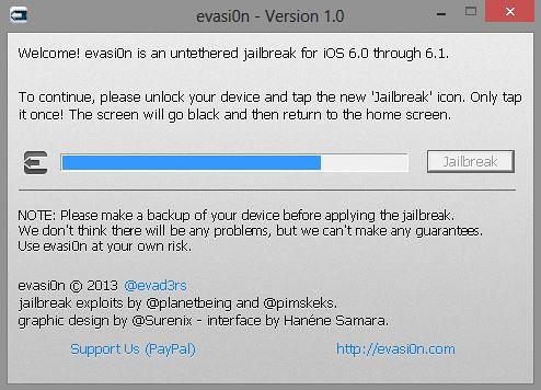 Evasi0n iOS 6 untethered jailbreak