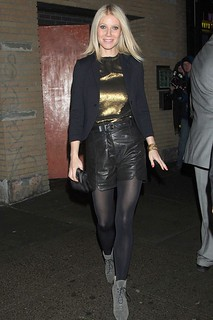 Gwyneth Paltrow Leather Shorts Celebrity Style Women's Fashion