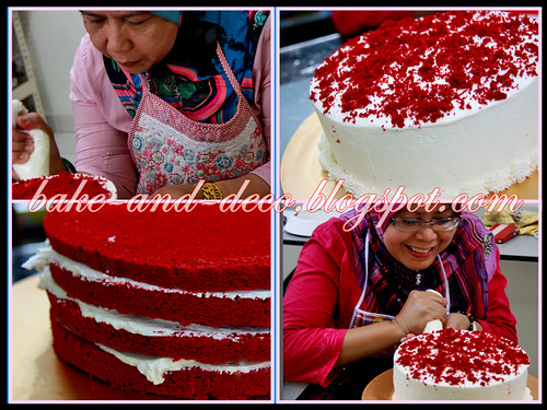 Bake & Deco Class: Red Velvet Cake ~ 8 July 2012